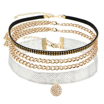 5 Styles Multilayer Choker Necklace