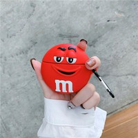 Red Chocolate Candy Face Protective Airpod Case