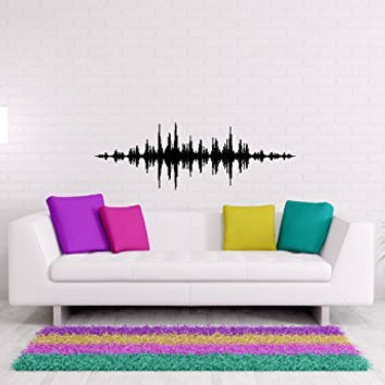 Music Bass Beat Volume Line Vinyl Wall Words Decal Sticker Graphic