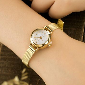 Simple Casual Ladies Wrist Watches For Women bracelet watch reloj mujer Small Round Dial Woven fashion watches relogio feminino
