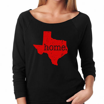 Texas Is My Home Raglan Shirt