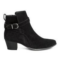H&M Suede Ankle Boots $59.99