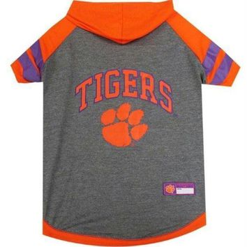 PEAPYW9 Clemson Tigers Pet Hoodie T-Shirt