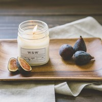 Brown Sugar and Fig - 9oz Pure Soy Wax Candle Glass Jar