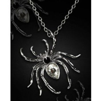 Restyle Spider Attack Brooch and Necklace