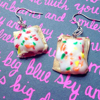 Pop Tart Earrings//Geekery//Miniature Food Jewelry//Polymer Clay//Cute Gift Ideas//Cyber Monday