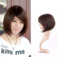 Short Wig Hair Hairstyles Cute  Haircuts Synthetic Women Straight Fashion  HB88