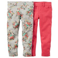 Carter's 2-pk. Jeggings - Baby Girl, Size: