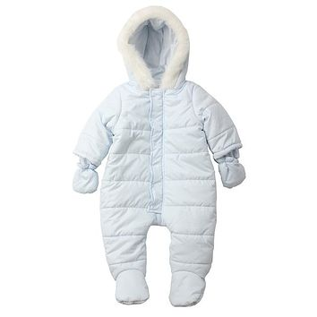 Warm Newborn Baby Rompers Winter Baby Boy Girl Thick Jumpsuit Hooded Kids Outwear Overalls Infant Clothes