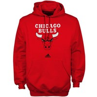 adidas Chicago Bulls Primary Logo Pullover Hoodie Sweatshirt - Red