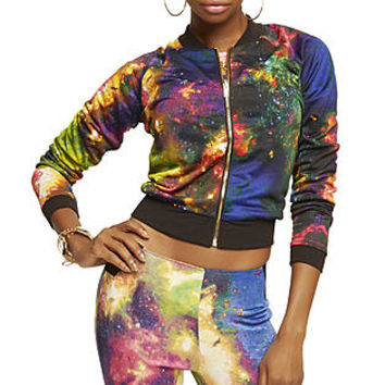 Nicki Minaj  Women's Bomber Jacket - Galaxy Print