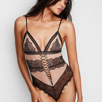 Plunge Lace-up Teddy - Very Sexy - Victoria's Secret