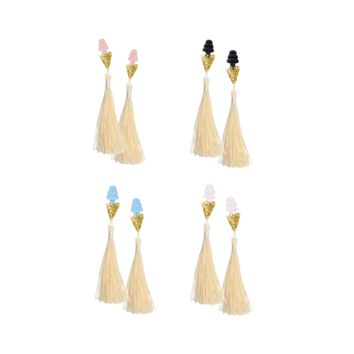 BREAKFAST AT TIFFANY'S INSPIRED CREAM TASSEL SLEEPING EARPLUGS