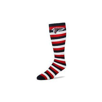 Atlanta Falcons Striped Knee High Hi Tube Socks One Size Fits Most Adults