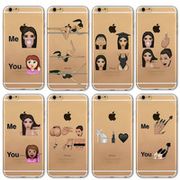 Funny Soft Clear Kim Kardashian Crying Face Emoji Case For iphone 6 6s Plus 5 5s SE 4 4s Ultrathin Kimoji TPU Mobile Phone Shell