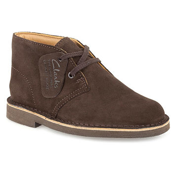 Clarks Desert Boot | Boys' - Dark Brown Suede