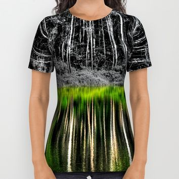 Forest reflection All Over Print Shirt by Claude Gariepy