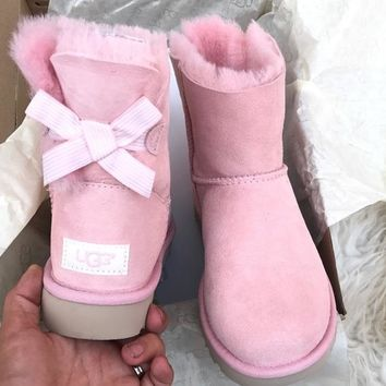 UGG Authentic Bailey bow pink boots