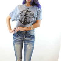 (ann) Anchor dream cropped top