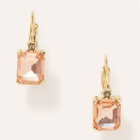 Rectangular Crystal Drop Earrings | LOFT