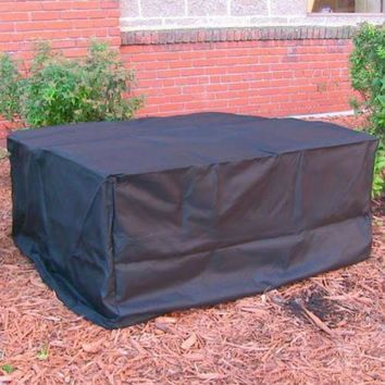 36x12 Square Fire Pit Cover Water Proof - Black