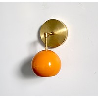 Loa Sconce with Orange Peel Shade