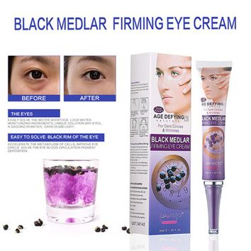 Black Medlar Firming Eye Cream Anti Aging Anti Dark Circles Advanced Repair Eye Remove Dark Circles Under Eyes Instantly Ageless