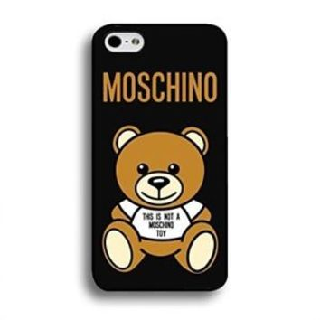New Famous Cute Moschino Logo Bear Best iPhone 7 7+ and X Hard Plastic Case