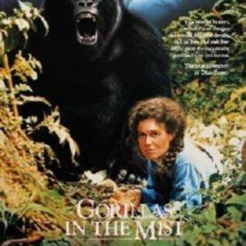 Gorillas In The Mist Movie poster Metal Sign Wall Art 8in x 12in
