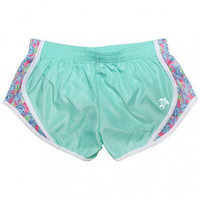Monogrammed Simply Southern Prep Sea Shell Mint Shorts / Simply Southern Running Shorts / Gym Short / Preppy Southern Summer Shorts / Preppy