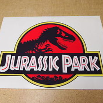 Jurassic Park Jeep Safari Door Decals SET
