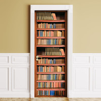 Sticker for Door / Wall / Fridge - Books. Peel & Stick Removable Decole, Mural, Skin, Cover, Wrap, Decal, Poster