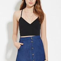 Surplice Racerback Crop Top