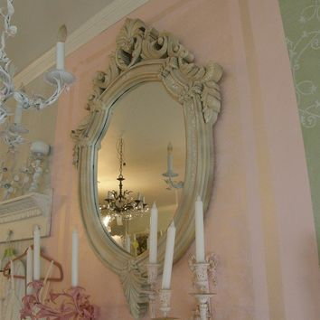 vintage shabby chic mirror frame fabulous by VintageChicFurniture