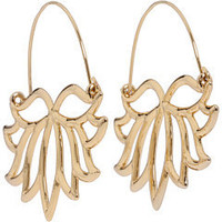 Disney Couture The Princess & The Frog Lotus Flower Hoop Earrings Gold - Zappos.com Free Shipping BOTH Ways
