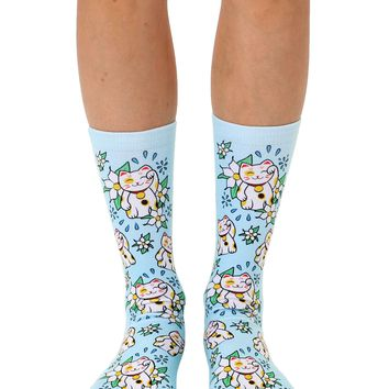 Maneki Neko Crew Socks