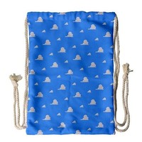Toy Story Cloud Wallpaper Inspired Drawstring Backpack