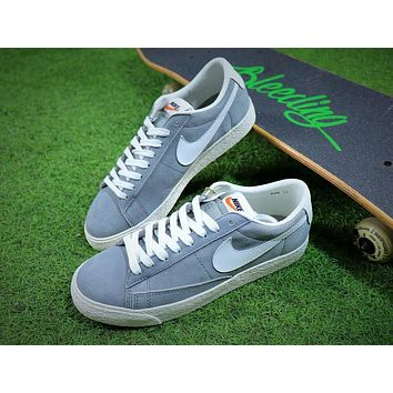 New Nike Blazer Sb Grey White Plate Shoes - Sale