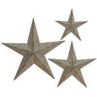 Deco 79 Metal Wall Star, 24-Inch, 18-Inch and 12-Inch, Set of 3