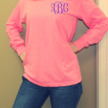 Comfort Colors Long Sleeve Monogram T-Shirt