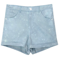 ROMWE | Main Blue Tie-dyed Galaxy Shorts, The Latest Street Fashion