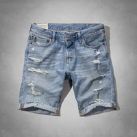 A&F Classic Fit Denim Shorts