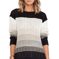 DEREK LAM 10 CROSBY Long Sleeve Crew Neck Sweater in Black