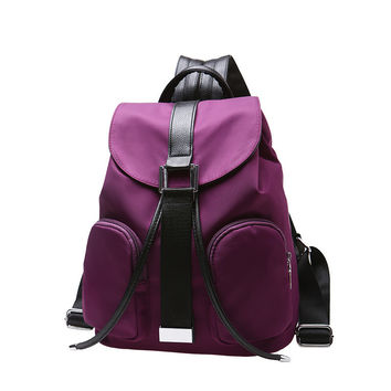 Hot Deal Back To School Comfort Stylish On Sale College Ladies Casual Nylon Waterproof Backpack [6581741959]