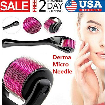 Derma Micro Needle, Titanium Roller For Acne Scars Anti-aging Hair Loss,