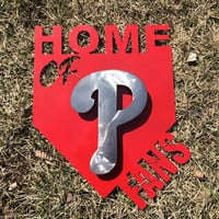 Philadelphia Phillies 2D Home plate metal sign, home of phillies fans sign