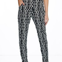 Ria Monochrome Check Skinny Trousers