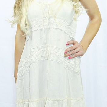 DOWN TO EARTH DRESS IN CREAM
