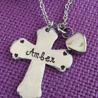Urn cremation Jewelry - Memorial Jewelry Necklace - Remembrance Necklace - Sympathy Gift - Memorial Necklace - Cross - Personalized