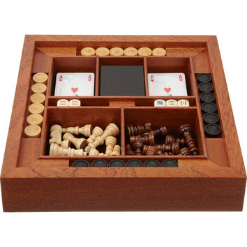 Chess, Checker And Card Game Set
